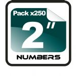 "2"" Race Numbers - 250 pack"
